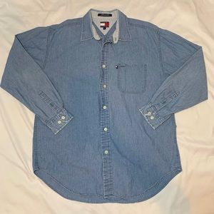 VTG Tommy Hilfiger Denim Button Down Size Large